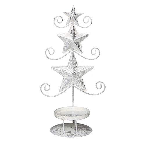Zebery Teelichthalter, drehender Kerzenhalter aus Metall, rotierender Kerzenhalter Weihnachten Metall...
