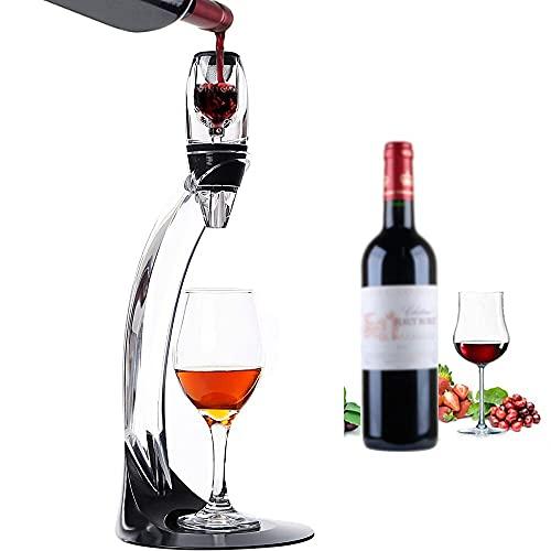 DODY Pourer Profesional de la decantación del Vino Tinto, con el Soporte del Soporte del Filtro Vodka Airador de Aire rápido, para el hogar de la Barra de Comedor en el hogar.