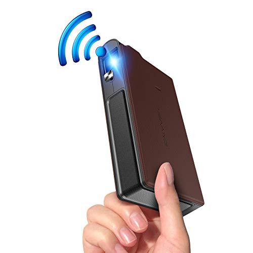 ミニプロジェクター 小型 iPhone WiFi モバイルプロジェクター 1080PフルHD対応 充電式 LED 携帯式 ポータブルLCDプロジェクター 3600ルーメンHDMI USB AV対応 自動台形補正  8,400mAh バッテリー内蔵