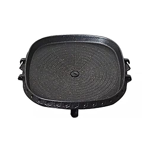 WSY Outdoor Barbecue BBQ Grill Non-Stick Pan Grillstein Stein Backen Pan Haushalt Outdoor Portable Teppanyaki Grill Pan (Color : Black)