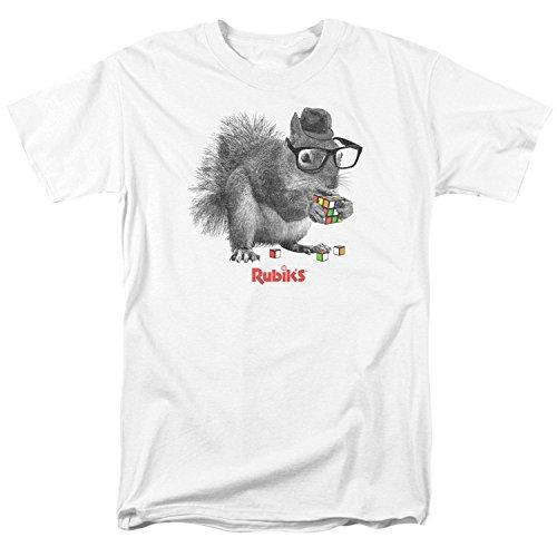 A&E Designs Rubik'S Cube Shirt Nerd Squirrel T-Shirt(Medium)