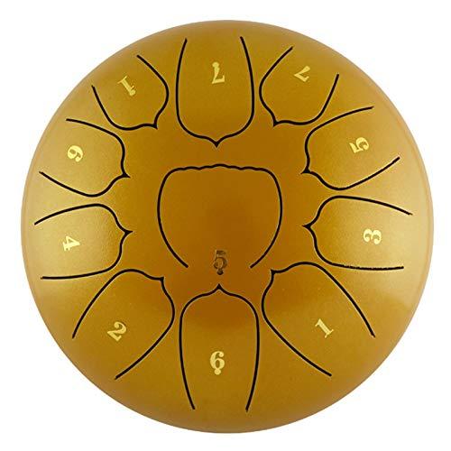 Steel Tongue Drum Percussion Instrument | 10 Zoll 11 Tragbare Notizen Lotus Hand Pan Drum Kit | | Tank Trommel mit Schlägeln für Anfänger Erwachsene Kinder Meditation Yoga | Ätherische Trommel