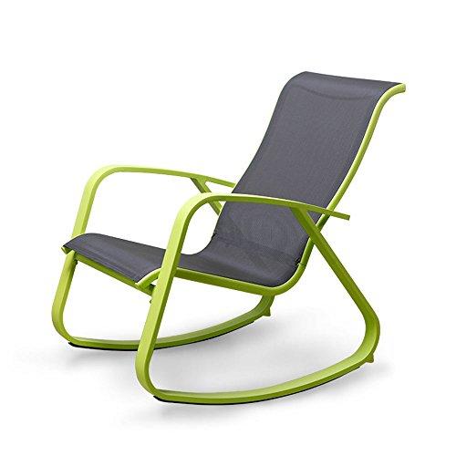 Fauteuils inclinables Feifei Lazy Siesta Chaise Chaise berçante inclinables Chaise Chaise Pliante Chaise de Balcon Chaise de Jardin intérieure en Plein air Loisirs Chaise Pliant (Couleur : Green)
