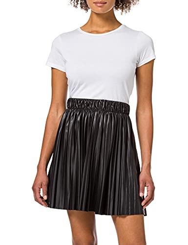 ONLY Damen ONLANINA Coated Skirt JRS Rock, Black, S