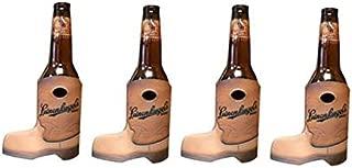 Leinenkugel's Cowboy Boot 12oz Beer Bottle Holder Kaddy Coolie Huggie Cooler Set of 4