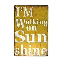 私はサンシャインサインメタルティンデコレーションレターを歩いています-20x30cm