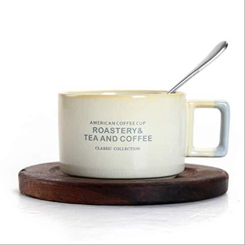 FHFF Kaffeetasse Fashion Cafe Shop Kaffee Keramik Tasse Untertasse Anzug Kleine Kaffeetasse Mit Geschirrlöffel Set Katzenkot Kaffeetassen17 Stil