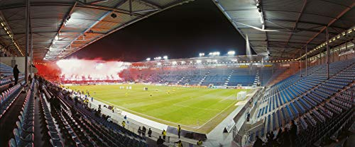 Magdeburg Stadion Panorama – Poster 120 x 50 cm – hochwertiger FineArtPrint