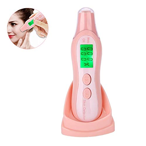 DNNAL Hauttester Handheld Digital Facial Skin Moisture Tester Gesichtsfeuchtigkeitsölgehalt Test Pen Feuchtigkeitsmesser für Beauty Salon