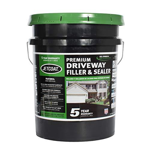 Jetcoat Premium Driveway Sealer, Asphalt Crack Filler and Sealant, Perfect for Blacktop Repair (5 Year Protection)