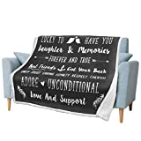 PAVILIA Best Friend Blanket, Friendship Gift for Women, Teen Girls, BFF, Besties, Valentines Birthday Gift Blanket, Couple Family I Love You Blanket Fleece Throw (Gray,50x60)