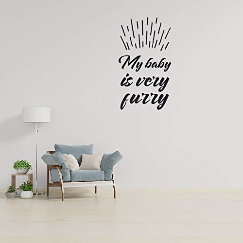 Art Decor Wall Stickers Murals For Living Room TV Background Kids Gilrs Rooms Bedroom Decoration My Baby Is Very Furry