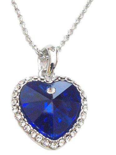 Titanic Herz des Ozeans Halskette. Blau. …sterreichischen Kristall. Platin beschichtet. Geschenk-Box