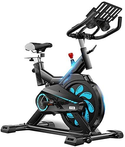 Ejercicio ciclo de la bici, manillar ajustable del asiento, inteligente App ordenador lee Calorías velocidad Distancia Tiempo sensores de frecuencia cardíaca, bicicleta de spinning for uso doméstico C