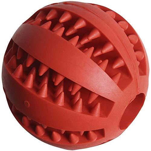 igadgitz Home U7146 Hundeball Leckerli, Hundespielzeug Ball, Dentalball Hunde -Rot (1stk)