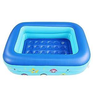 DYHDW Piscina hinchable grande familiar rectangular infantil redonda para adultos bebés al aire libre material de PVC