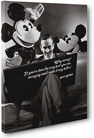 Walt Disney Motivational Quote Canvas Wall Art product image