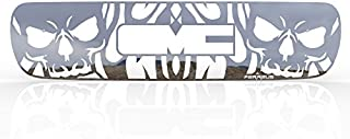 Ferreus Industries Grille Insert Guard Skull Flame Polished Stainless fits: 2000-2006 GMC Yukon TRK-130-10-Chrome-b
