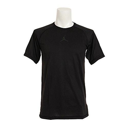 NIKE Michael Jordan 23 Alpha Dry Fitted SS Camiseta de Manga Corta, Hombre, Negro (Black/Black), XS