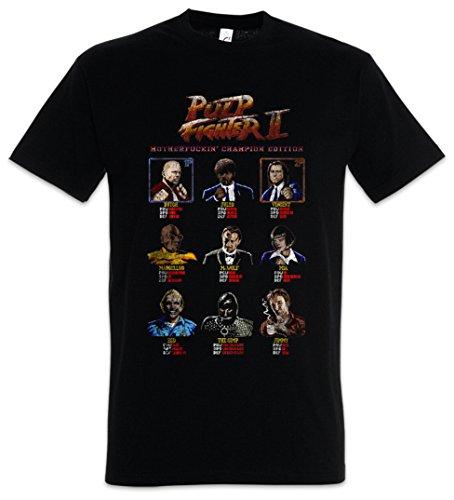 Urban Backwoods Pulp Fighter II Camiseta De Hombre T-Shirt Negro Talla M