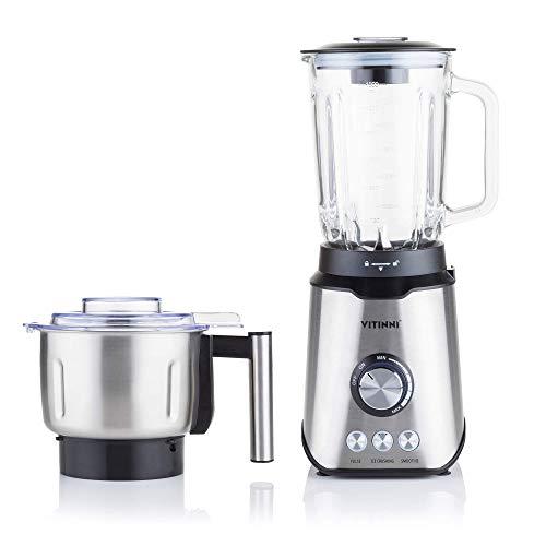 Blender 1000W 1.5L Glass Jug Smoothie Maker Coffee Grinder Ice Crusher Juicer Dry Food Grinder | Hot and Cold Food from Vitinni