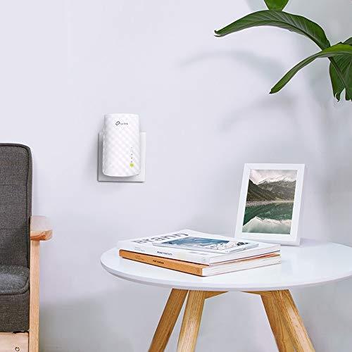 TP-Link RE200 Répéteur WiFi - Amplificateur WiFi AC 750 Mbps, WiFi Extender, WiFi Booster, 1 Port Ethernet, Augmente la borne wifi, Compatible avec toutes les box internet,Blanc