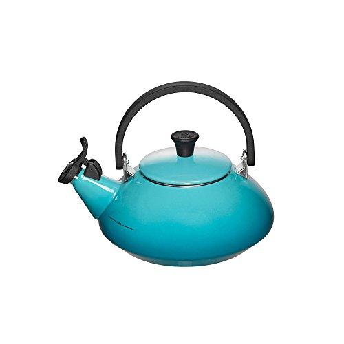 Le Creuset Enamel On Steel Zen Tea Kettle, 1.6 qt., Caribbean