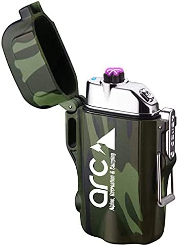 Dual Arc Plasma Lighter Rechargeable Max Factory outlet 89% OFF USB Fishing Camping for via