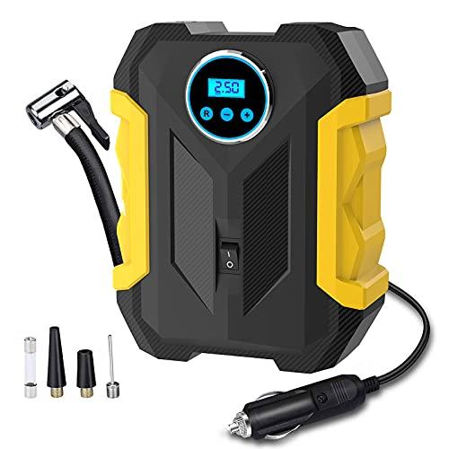 Digital Air Compressor for Car Auto Pump Portable Tire Inflator with...
