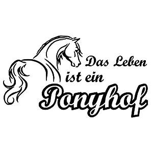 Aufkleber Das Leben ist ein Ponyhof