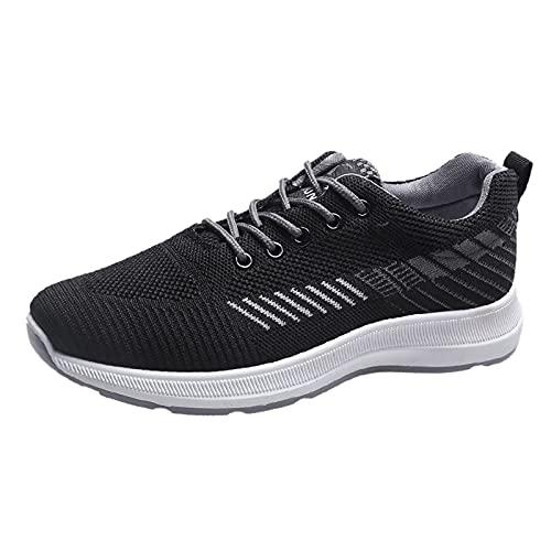 Mujer Zapatillas Casual Zapatos Deportivas Cómodos Fitness Atlético Paseo Correr Calzado Transpirable Ligero Deporte Sneakers Zapatillas Mujer Blancas(A33_Gray,38)