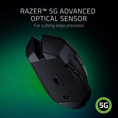 Razer Basilisk X HyperSpeed Wireless Gaming Maus (mit Razer HyperSpeed Technologie, Kabellos, 5G Advanced Optical Sensor und 6 Freikonfigurierbaren Tasten) Schwarz - 3