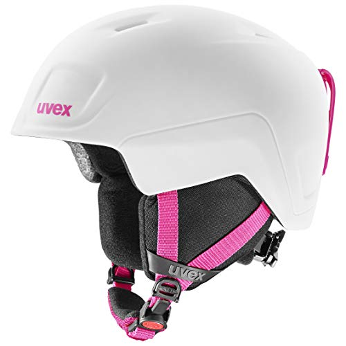 uvex heyya PRO, Casco da Sci Unisex Bambino, White-Pink Mat, 51-55 cm
