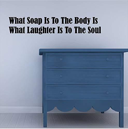 Wat zeep is om de BodyBathroom Muursticker Verwijderbare Bad Muursticker Lettering