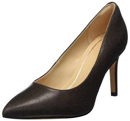 Clarks Dinah Keer, Scarpe con Tacco Donna, Grigio (Taupe Leather), 40 EU