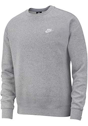 Nike Club - Felpa in pile grigio/bianco XL