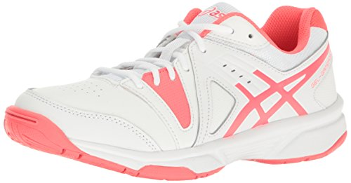 ASICS Women's Gel-Gamepoint Tennis Shoe, White/Diva Pink, 5 M US