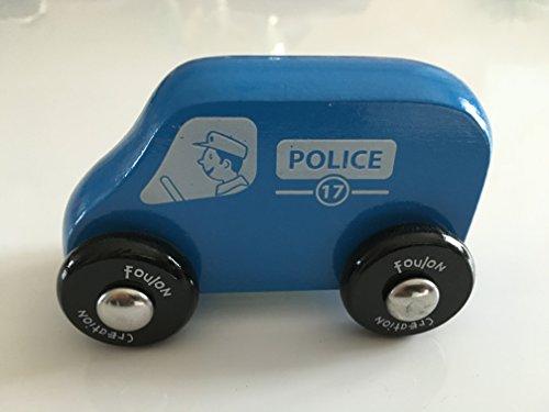 Jolie camionette de Police en Bois - Made in France - Finition irréprochable