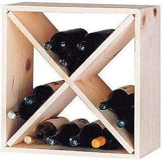 OKSLO Country pine cube 24 bottle floor wine rack