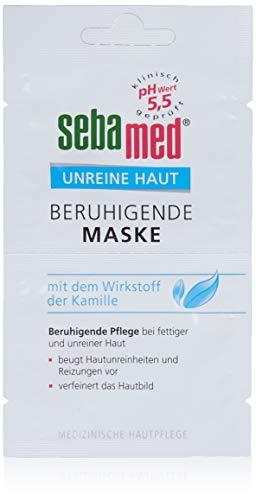 Sebamed Unreine Haut Beruhigende Maske 6er Pack (12 x 5 ml), beruhigende Pflege bei unreiner Haut, beugt Hautunreinheiten und Reizungen vor und verfeinert das Hautbild