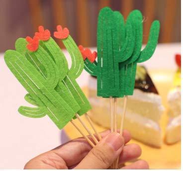 Ndier Cactus Cake Topper Set de 24 moldes para hawaii boda y cumpleaños temática fiesta DIY decoración