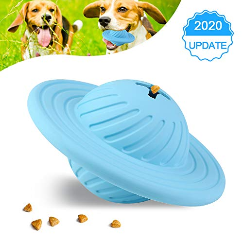 Kqpoinw Hundespielzeug Ball, Haustiere Hund Kauen Spielzeug Ball für Zahnreinigung/Kauen/Spielen/IQ-Training Naturkautschuk Snack Spielzeug für Große Mittelgroße Hunde