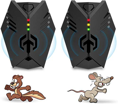 Advanced Ultrasonic Rodent Repelling System | Superior Rodent Repeller, 2020 Upgraded Electronic Ultrasonic Squirrel Repellent Plug in, Rat Repeller, Repel Rodents, Mice, Rats, Squirrels(2 Packs).