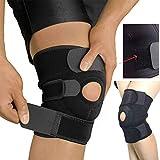 HOPz Hinged Knee Braces for Men/Women Non-Slip Silicone Gel for Running, Sports
