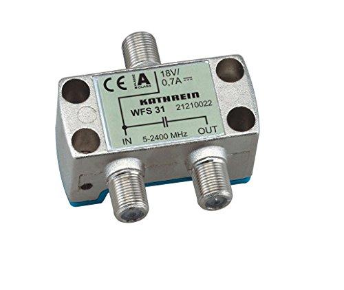 Kathrein WFS 31 F 2xF Silber - Kabelschnittstellen-/Adapter (F, 2xF, Female Connector/Female Connector, Silber)