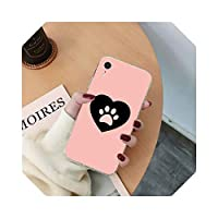 TieSen ベストドッグポーソフトフォンカバー For iPhone 11 pro XS MAX 8 7 6 6S Plus X 5S SE 2020 XRファンダス-a6-For iphone X or XS