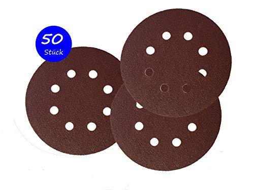 50 Klett-Schleifscheiben Ø 125 mm Körnung 80 für Exzenter-Schleifer 8 Loch