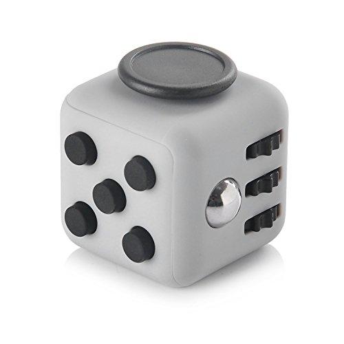 HelloGO フィジェットキューブ サイコロキューブ ストレス解消キューブ 6in1 リリーフ 手持ち無沙汰を解消する玩具 おもちゃ 気分転換 プレゼント ポケットゲーム(グレー+ブラック)