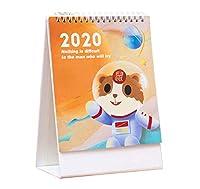 クリエイティブ2019-2020スモールノートブックオフィス/ホームスタンディングカレンダー、B05
