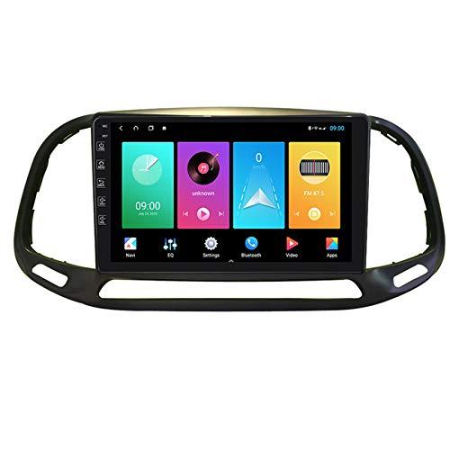 Amimilili Autoradio Stereo Navigation GPS Android 9 pour Fiat Doblo 2015-2020 MP5 Lecteur Mains Libres Bluetooth Commande au Volant FM Radio Lien Miroir+Caméra Arrière,M100 1+16g